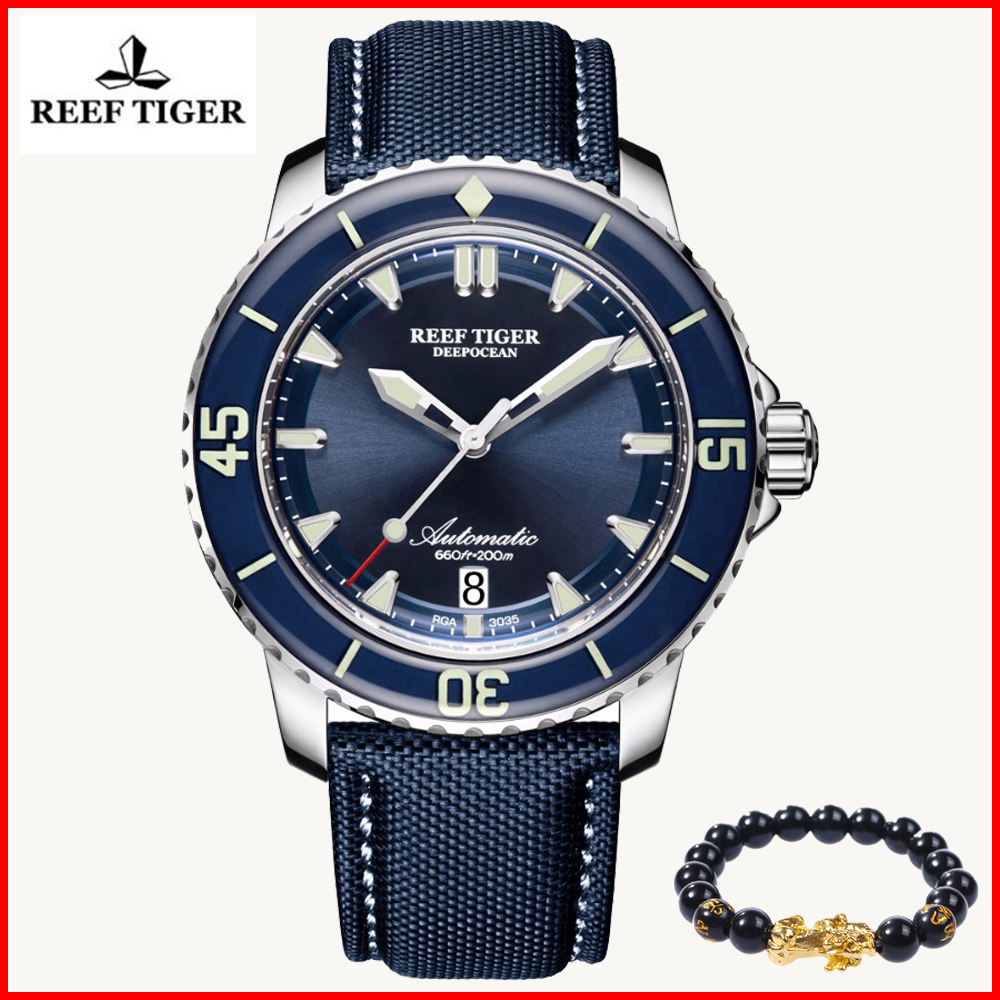 2019 Reef Tiger Luxury Brand Men Sport Watches Luminous Dive Watch Men Dial Analog Automatic Watch Nylon Strap Relogio Masculino2019 Reef Tiger Luxury Brand Men Sport Watches Luminous Dive Watch Men Dial Analog Automatic Watch Nylon Strap Relogio Masculino