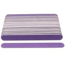 100 pcs/lot Thin Holz Nagel Datei Einweg Schleifen Sandpapier Dateien Lila Nagel Puffer polier limas Pediküre Maniküre Polieren
