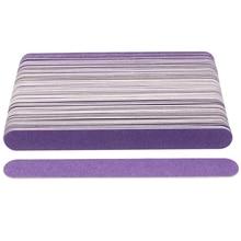 100pcs/lot Thin Wooden Nail File Disposable Sanding Sandpaper Files Purple Nail Buffer Buffing limas Pedicure Manicure Polishing