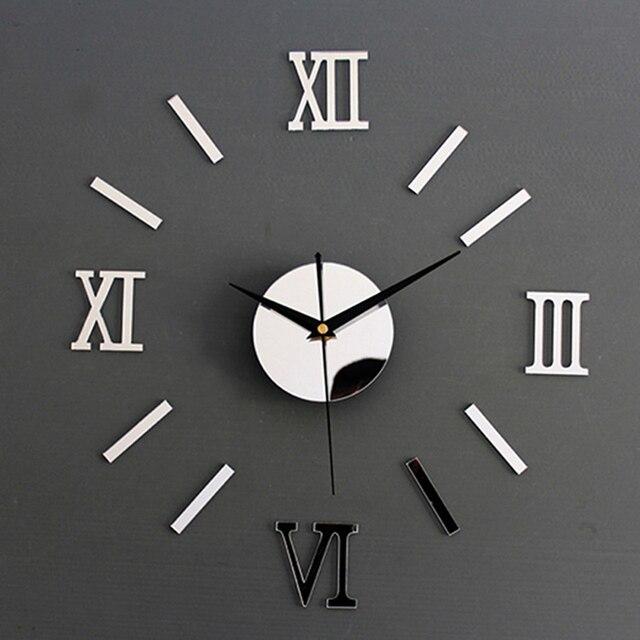 Креативные цифровые настенные часы наклейки часы современный дизайн часы DIY часы на стену кухня часы гостиная домашний декор