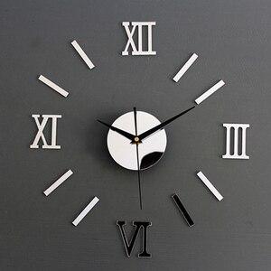 Wall Clock Sticker Watch Modern Design Clock DIY Clocks On Wall Kitchen Clock Living Room Home Decor(China)