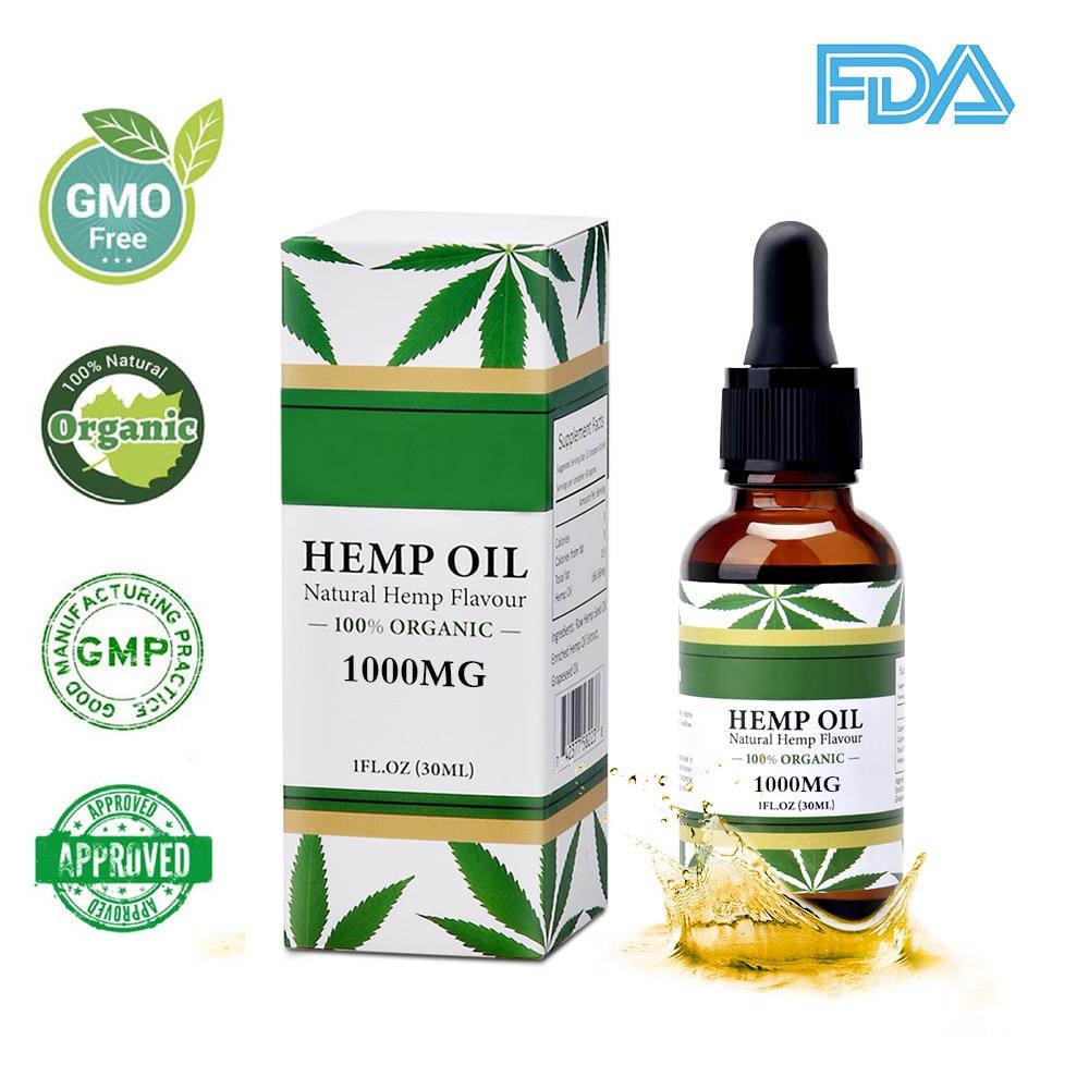 Olio di Semi di Canapa naturale 30 ml Olio di Canapa Organico Puro Olio Essenziale per Alleviare Lo Stress Del Corpo Massaggio di Cura Della Pelle e relax