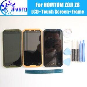 Image 1 - HOMTOM ZOJI Z8 LCD תצוגה + מסך מגע Digitizer + מסגרת עצרת 100% מקורי חדש LCD + מגע Digitizer עבור HOMTOM ZOJI Z8 + כלים