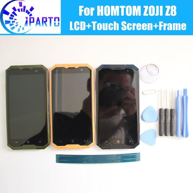 HOMTOM ZOJI Z8 LCD תצוגה + מסך מגע Digitizer + מסגרת עצרת 100% מקורי חדש LCD + מגע Digitizer עבור HOMTOM ZOJI Z8 + כלים