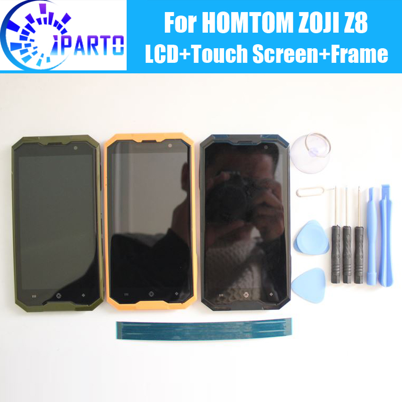 HOMTOM ZOJI Z8 LCD Display+Touch Screen Digitizer +Frame Assembly 100% Original New LCD+Touch Digitizer for HOMTOM ZOJI Z8+Tools