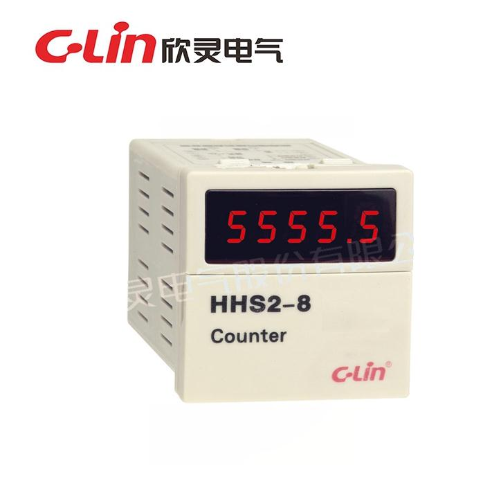 New and original HHS2-8 C-Lin Time relay manual and automatic reset AC220V DC24V Five digital display, counter, timer schneider time relay rexl4mbd dc24v