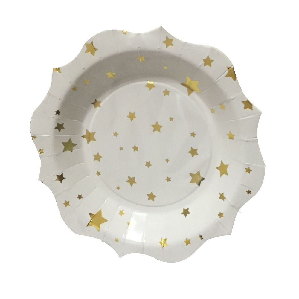 Free Shipping 60pcs 7inch Toot Sweet Gold Stars Small Paper Plates Wedding Christmas New Years Eve Party Gold Foil Star Plate -in Disposable Party Tableware ...  sc 1 st  AliExpress.com & Free Shipping 60pcs 7inch Toot Sweet Gold Stars Small Paper Plates ...