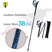 Ultra Light Adjustable Camping Hiking Nordic Walking Stick Alpenstock Bastones Trekking Carbon Fiber Climbing Ski Trekking