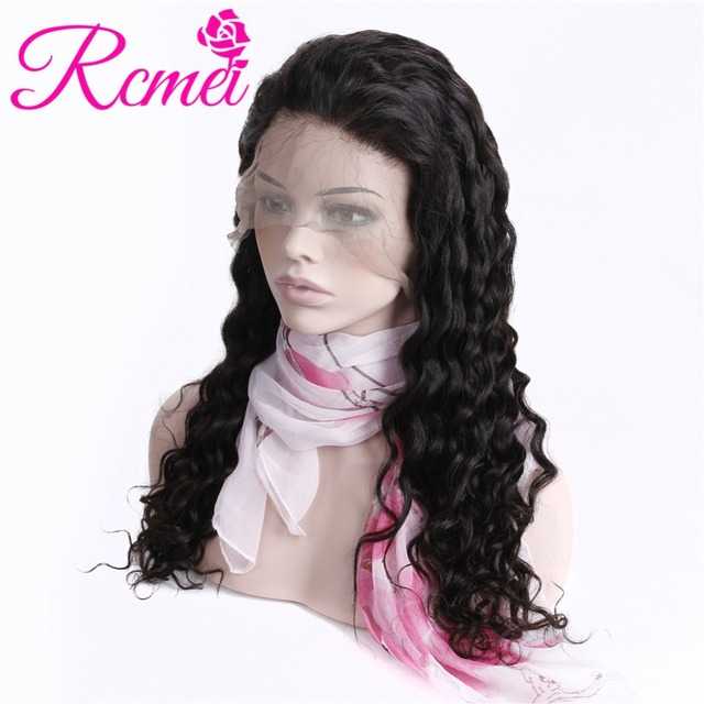 Rcmei Full Lace Human Hair Wigs Loose Wave Lace Wigs For Black Women Average cap 150 Density Natural Hairline Brazilian RemyHair
