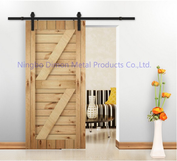 Dimon Customized Sliding Door Hardware With Damper Kits America Style Sliding Door Hardware DM-SDU 7207 With Soft Closing