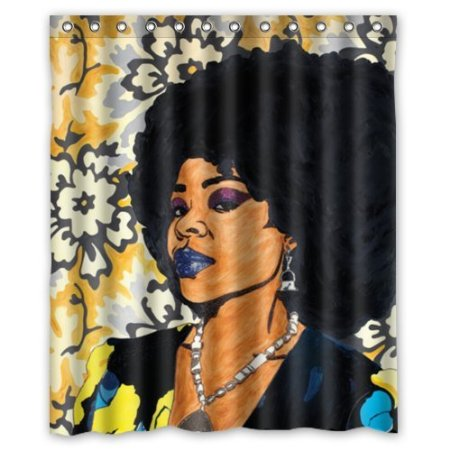 Fashion African Women Dam Images Art Background 160x180cm Waterproof Shower Curtain Room Product