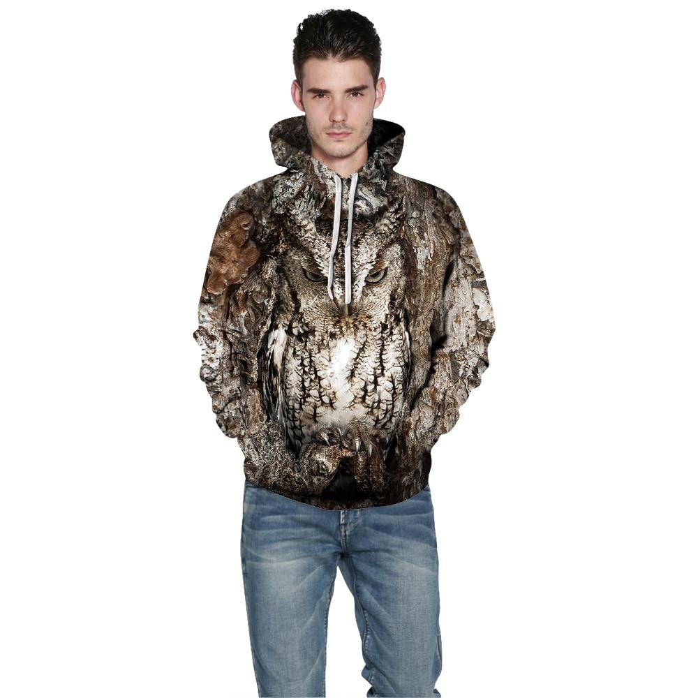 Image 4 - Women/Men 3D Owl Print Hoodie Winter Casual Pullover Hooded Long Sleeve Sweatshirt Clothing Fashion Tracksuits Animal StreetwearHoodies & Sweatshirts   -
