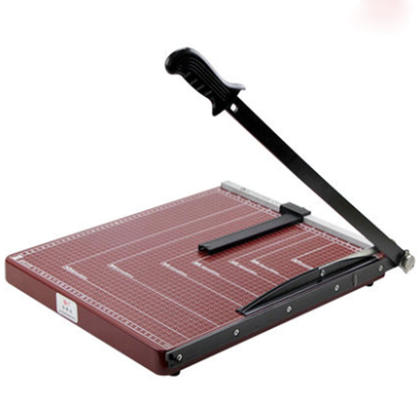 paper cutter Paper cutter definition, any device for cutting or trimming paper, typically a weighted, powered, or spring-hinged blade mounted on or over a ruled board or table on which many sheets of paper may be aligned for cutting at one time.