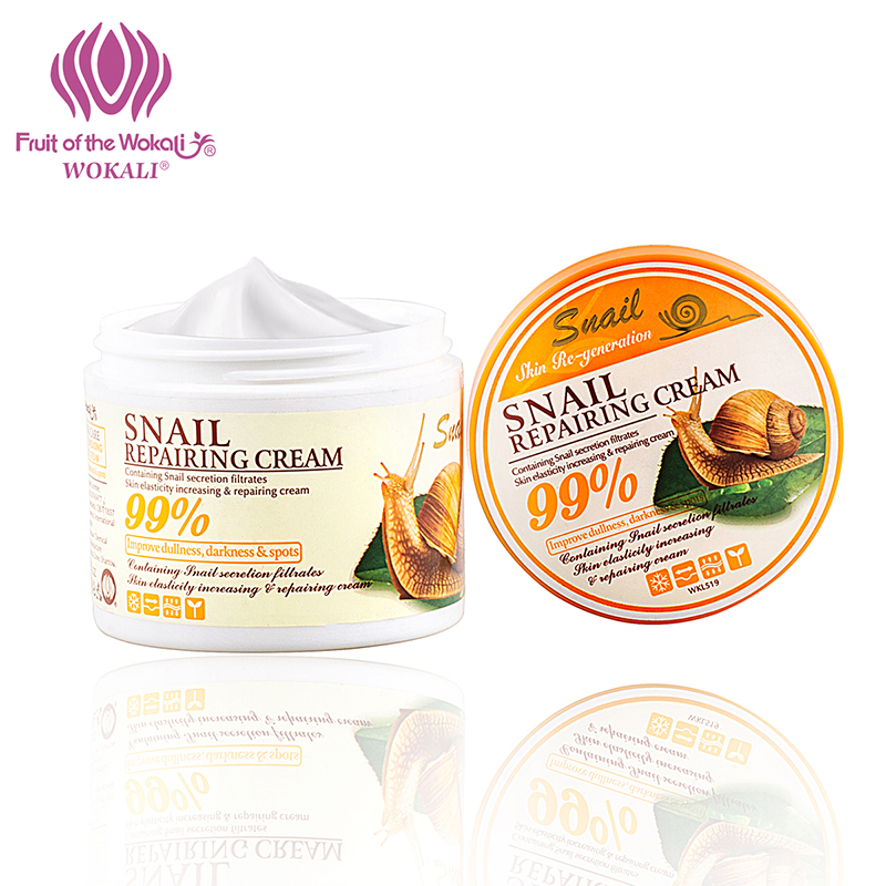WOKALI 100g Snail Essence Moisturizing Face Cream Nourishing Skin Care Anti-Aging Wrinkle Beauty Repair The Skin Remove Scar