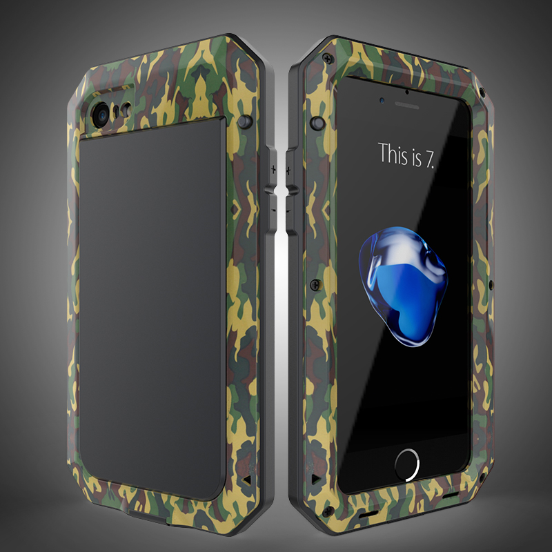 HTB1g7hSbkUmBKNjSZFOq6yb2XXaF Heavy Duty Protection Doom armor Metal Aluminum phone Case for iPhone 11 Pro Max XR XS MAX 6 6S 7 8 Plus X 5S 5 Shockproof Cover