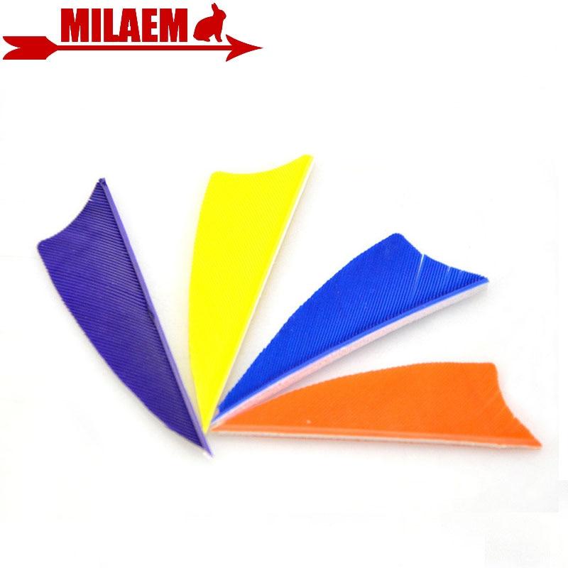 """50pcs 3 /""""Arrow Feathers 12 Colour Turkey Feather Tiro con l/'arco Accessori per"""