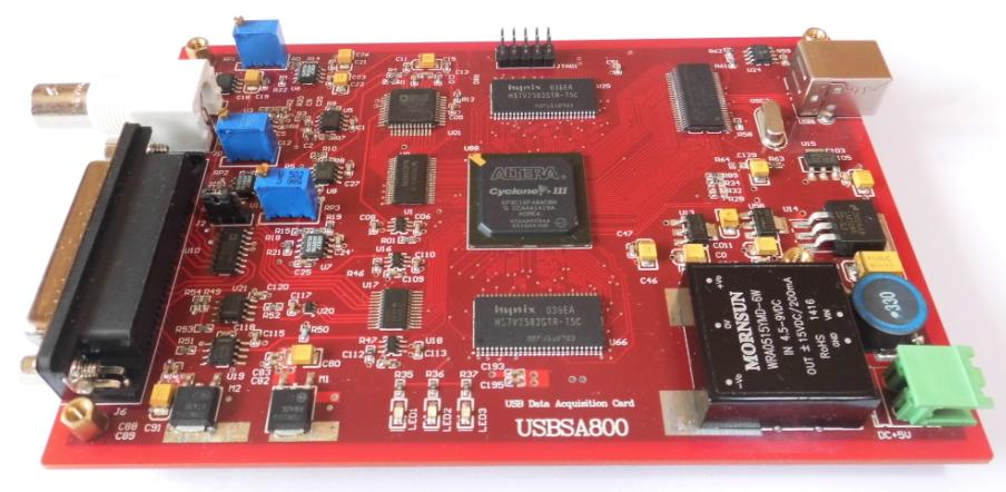 For USB data acquisition board design (AD sampling rate of the highest 10MHz, with external trigger)