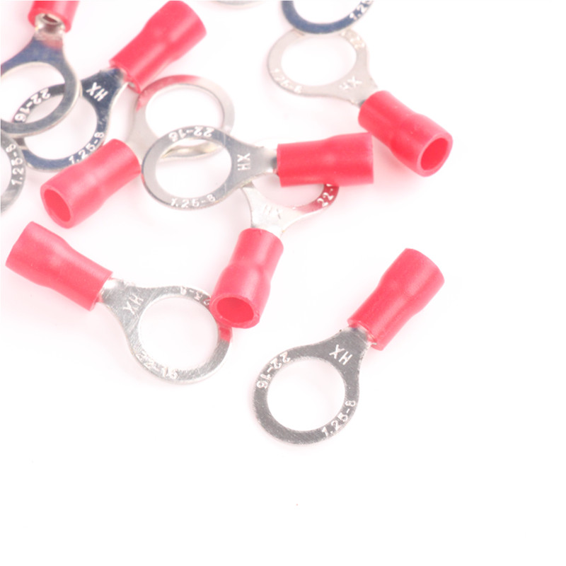 New Red 20Pcs Electrical Crimp Terminals RV1.25 8 Ring Ground ...