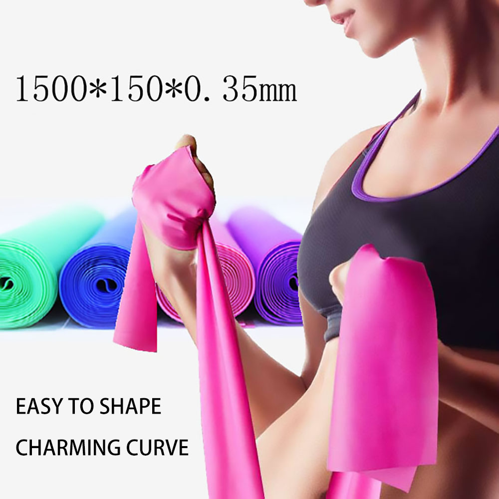 FDBRO Yoga Resistance Bands Yoga Practise Elastic Straps Body Fitness Tension Exercise Sport Stretching Ribbon Belt Pull Strap