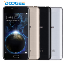 DOOGEE Shoot 2 Mobile Phones MTK6580A Quad Core 8G ROM 1G RAM Smartphone 5.0 Inch HD Android 7.0 Cellphone Dual Back Cameras 5MP