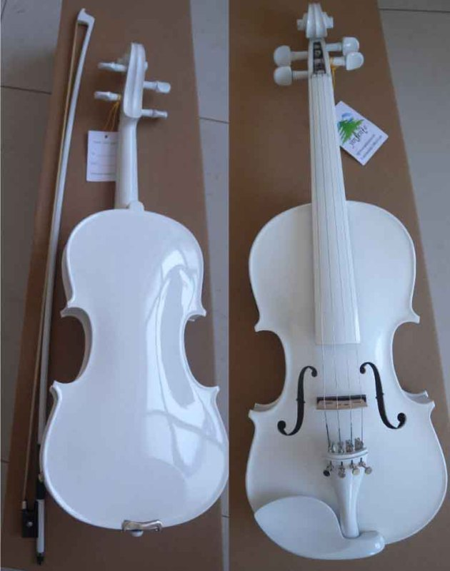 #Y61# 4/4 white Violin professional handmade new solid maple wood brown acoustic violin violino 4 4 electric violin case bow included