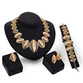 Brand Vintage Jewelry Sets African Beads Collar Statement Necklace Earrings Bracelet Ring Women Wedding Party Accessories S0123