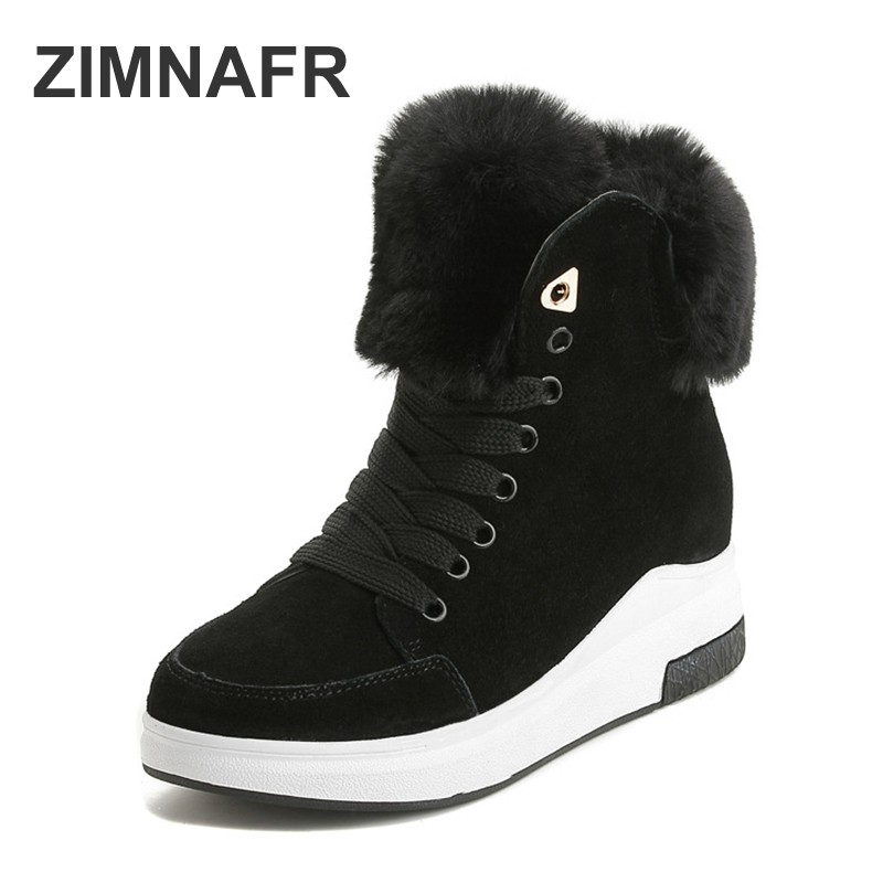 women brand boots 2018 genuine leather cowhide women snow boots autumn&winter new casual boots women snow boots