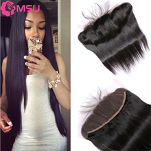 Angel Grace Hair Malaysian Straight Frontal Closure 8-20inch 8A Virgin Malaysian Hair Closure 13×4 Ear to Ear Full Lace Closure
