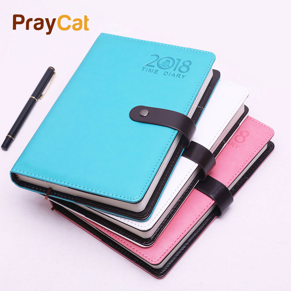 A5 Notebook Week Planner Agenda Blank Horizontal Notepad Stationery Business Travel Office Fitted Personal Diary 180 Sheets