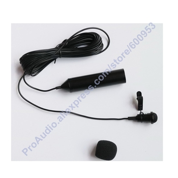 Pro Metal Clip Lavalier Microphone clips XLR 3Pin Phantom Power Lapel Mic
