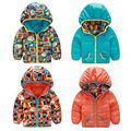 Los niños de los Bebés Niños Pequeños Abrigos Acolchados Abajo Outerwears Chaquetas Sudaderas Con Capucha Calientes