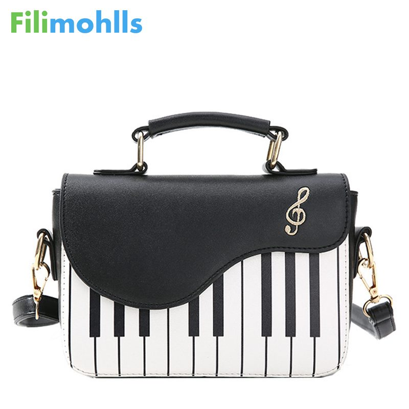 Ladies Piano keys Pu Leather Handbag Women Small Shoulder Bags Female Embroidery Crossbody Messenger Bag Drop Shipping S1512