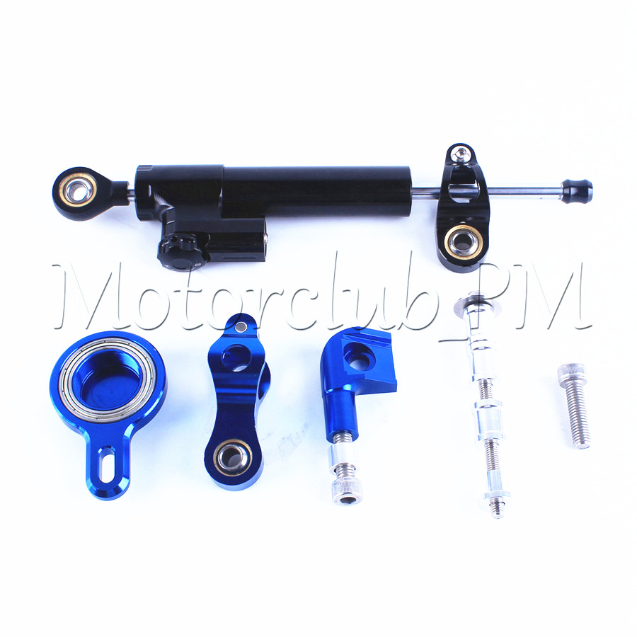 Motorcycle CNC Damper Steering Stabilizer Linear Reversed Safety Control with Mounting Bracket Kit For Yamaha YZF R1 1999-2005 brand new universal motorcycle cnc aluminum steering damper alloy stabilizer linear reversed safety control 5 colors optional