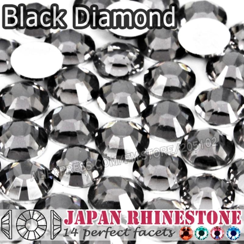 Черный бриллиант ногтей кристалл горный хрусталь SS16 SS20 SS30 смола не исправление плоские задние камни блестки для клея DIY искусство-in Стразы from Дом и сад on Aliexpress.com | Alibaba Group