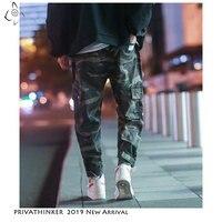 Privathinker Autum Man Streetwear Cargo Pants 2019 Mens Camo Big Pocket Sweatpants Male Harujuku Pants Korean Joggers