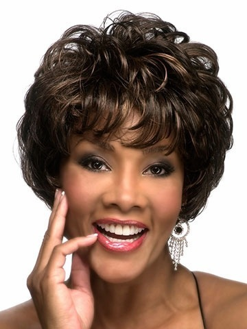 Free hairnet Free Shipping 2015 Short Curly Synthetic hair Wigs Peluca Peruca Full Wig for Women