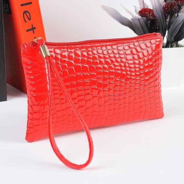 Portefeuille femme sac à main sac à main femme Crocodile pochette en cuir synthétique polyuréthane sac à main porte-monnaie Crocodile sac à main pochette sac femmes