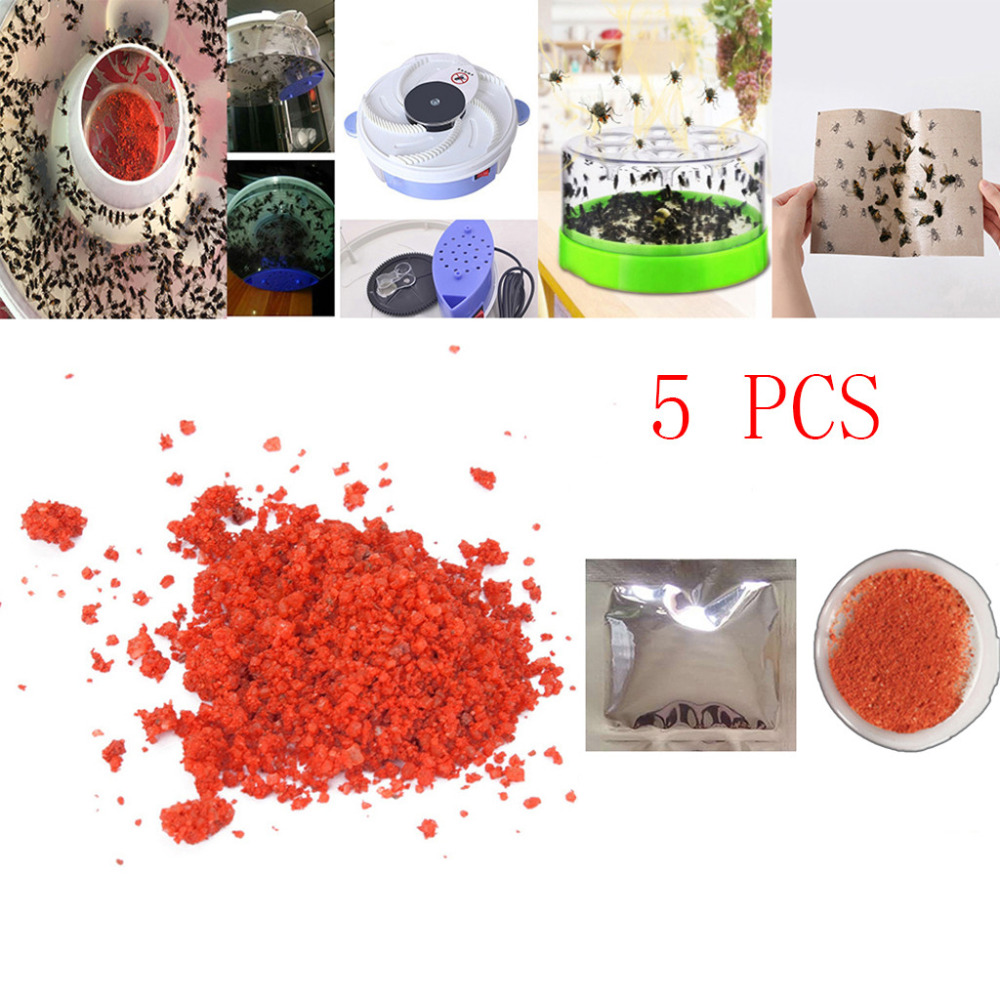 5PCS Effective Killer Cockroach Powder Bait Special Insecticide Bug Beetle Medicine Insect Reject Pest Control Odorless Bait #F