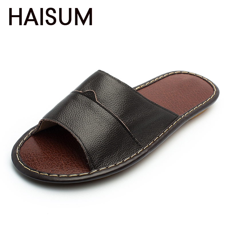 Overseas warehouse---Men's Slippers Spring And Summer genuine Leather - Men's Shoes - Photo 1