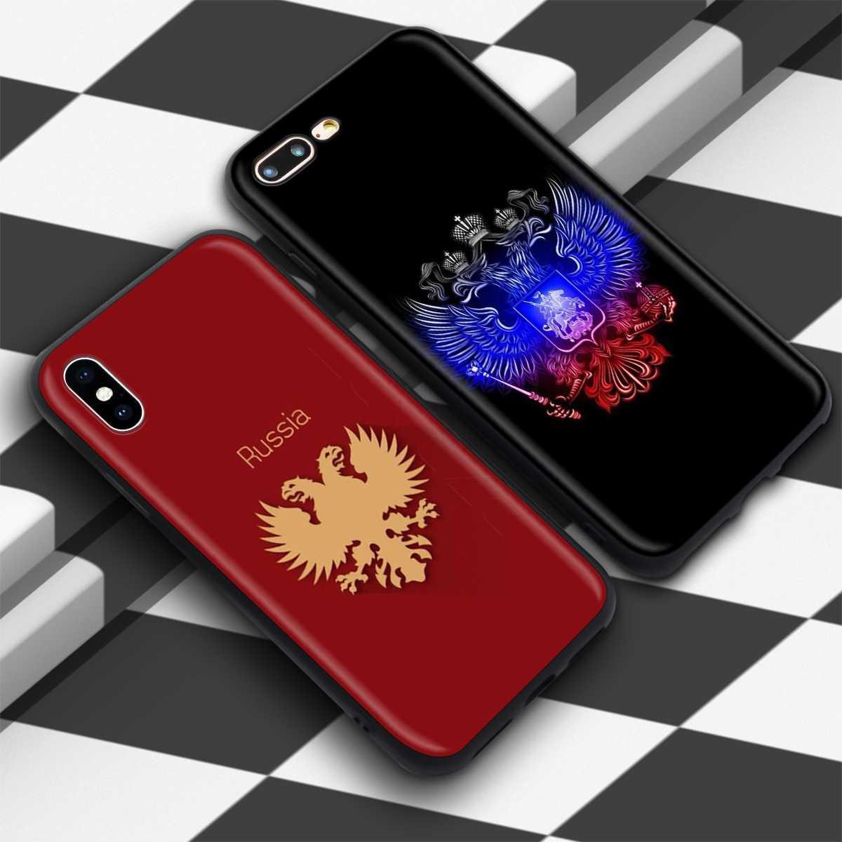 Lavaza Rússia Braços Caso Águia para iPhone 11 XS Pro Max XR X 8 7 6 6S Plus 5 5S se