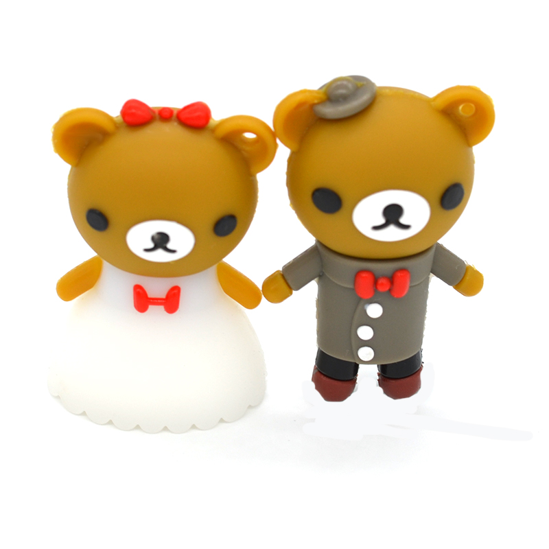 pendrive 뜨거운 만화 Rilakkuma 곰 결혼 웨딩 펜 - 외부 저장 - 사진 2