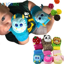 11,11 зимние теплые флисовые варежки для новорожденных, детские перчатки для девочек мальчиков, бархатные хлопковые детские перчатки