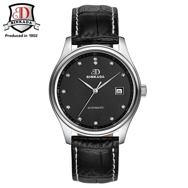 BINKADA 2019 relojes automáticos de moda para hombre, reloj de oro mecánico de marca de lujo, reloj de pulsera de acero inoxidable impermeable para hombre - 4