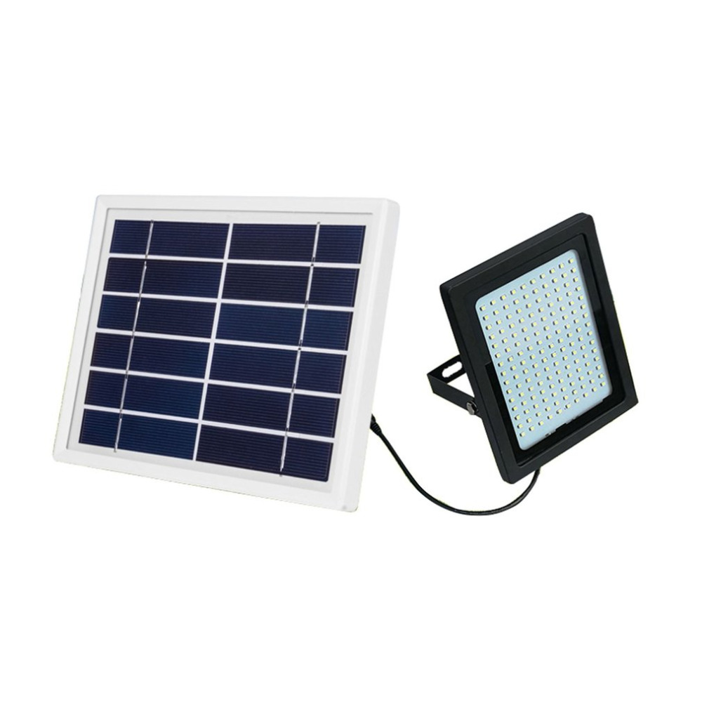 150 LEDs Solar Powered LED Flood Light Radar Induction Spotlight IP65 Waterproof Outdoor Lamp for Garden Lawn Pool Yard 2 Color