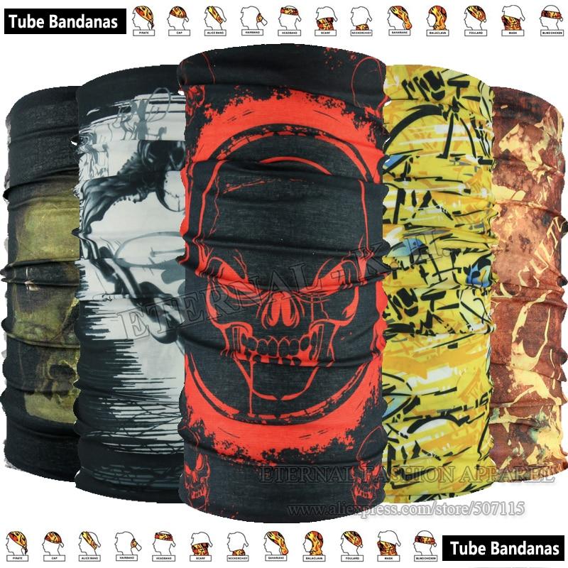 EXPRESS Shipping Wholesale 100pcs New Various Unisex Style Outdoor Tube Seamless Headwear Microfiber Multifunctional Bandanas