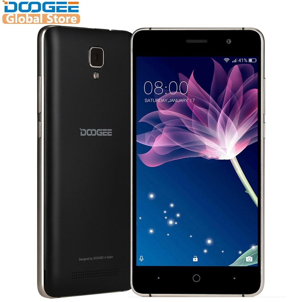 DOOGEE telefones X10 móvel de 5.0 Polegadas IPS 8 GB Android6.0 MTK6570 1.3 GHz 5.0MP telefone inteligente Dual SIM 3360 mAH WCDMA GSM celular