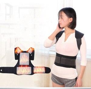 Image 5 - Turmalin samonagrzewający magnetoterapia pas pas wspierający Kneepad ramiona sweter kamizelka kamizelka ciepłe leczenie bólu pleców