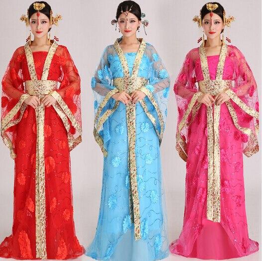 Chinois lune fée jeune fille costume vêtements Han Tang dynastie princesse antique Royal hanfu femelle impériale impératrice cosplay