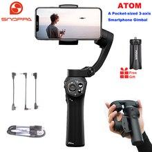Snoppa Atom 3-Axis Складной Карманный ручной шарнирный стабилизатор для камеры для iPhone смартфона GoPro и Беспроводной зарядки PK гладкой 4