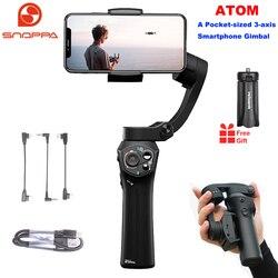 سنوبا اتوم 3-محور طوي جيب الحجم يده مثبت أفقي آيفون الهاتف الذكي GoPro & اللاسلكية شحن PK السلس 4